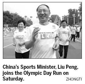 Chinese celebrate Olympic Day Run to enjoy sport