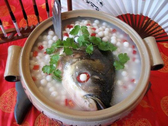In fact, the fish heads are a prized delicacy.