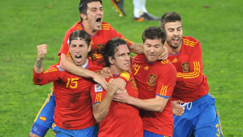 Spain beats Germany 1-0 to reach World Cup final