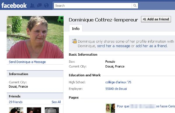 A picture taken from the Facebook page allegedly shows Dominique Cottrez, who was charged with the 'deliberate homicides of minors under the age of 15'. [Xinhua]
