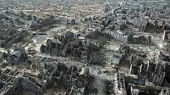 3d reconstruction of post ww2 warsaw for Cities destroyed in ww2