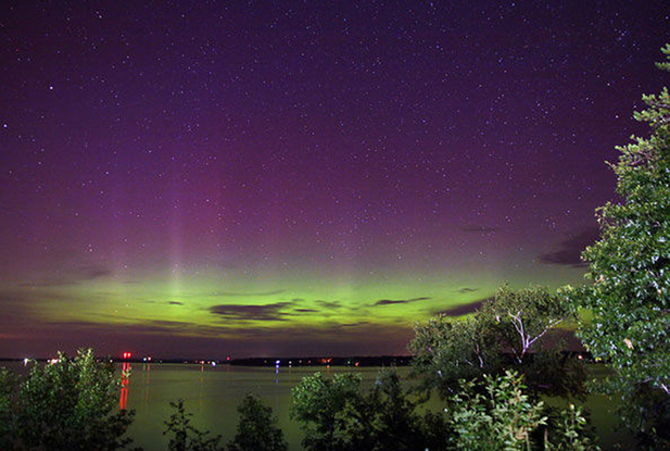 Aurora captured in Wisconsin, the United States [sci.sina.com]
