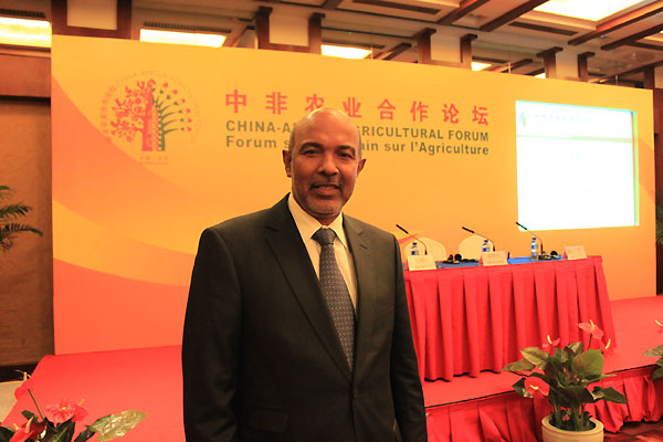 Abdelhalim Ismail Elmtafi Mohamed, the Sudanese minister of agriculture and forestry, at the China-Africa Agricultural Forum in Beijing on Aug. 12. [Xu Lin / China.org.cn]