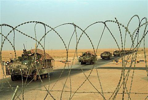 The last large U.S. combat brigade has left Iraq, Voice of America reported.