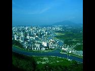A view of the Shenzhen River. [QQ.com]
