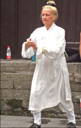 Slovenian Elizabeth Skuber Ostermaw says mass tourist visits are threatening Wudang.