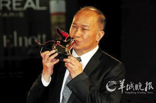 Film director John Woo won the Golden Lion award for lifetime achievement at the Venice Film Festival Friday, becoming the first Chinese recipient of this honor.