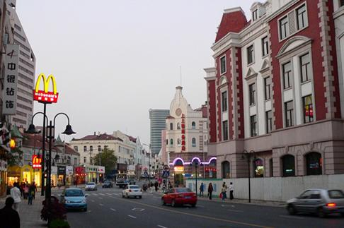 Zhongshan Commercial Street is the most historic commercial area and the busiest shopping street in the city.