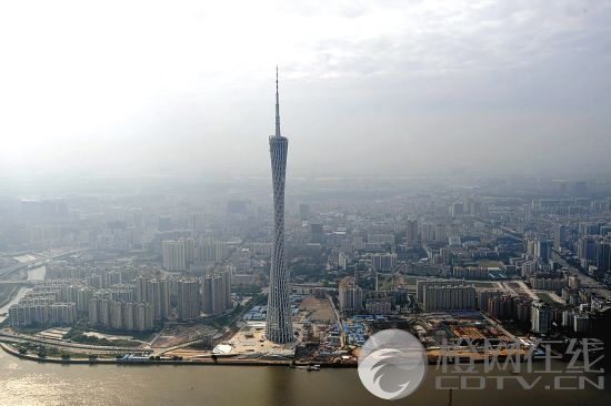 The new Guangzhou TV Tower opened to tourists Wednesday. The 610-meter-high tower is the highest in China. The main tower is 454 meters high and the antenna mast adds another 156 meters. Admission prices are 50, 100 or 150 yuan depending on how high you want to go.