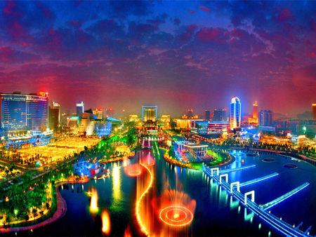 Night scene in Dongguan.[GAGOC]