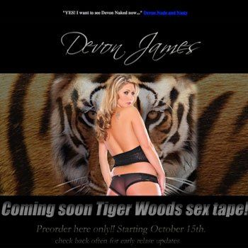 A website promising a Tiger Woods sex tape has surfaced and says it will accept pre-orders for the alleged tape starting Oct. 15.