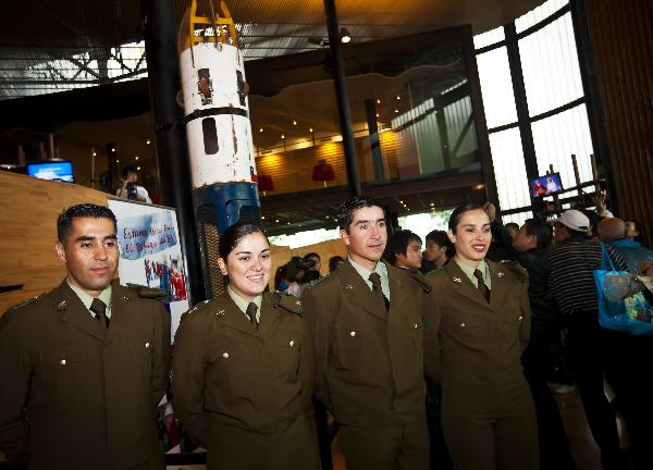 Chilean rescue capsule displayed at Shanghai Expo