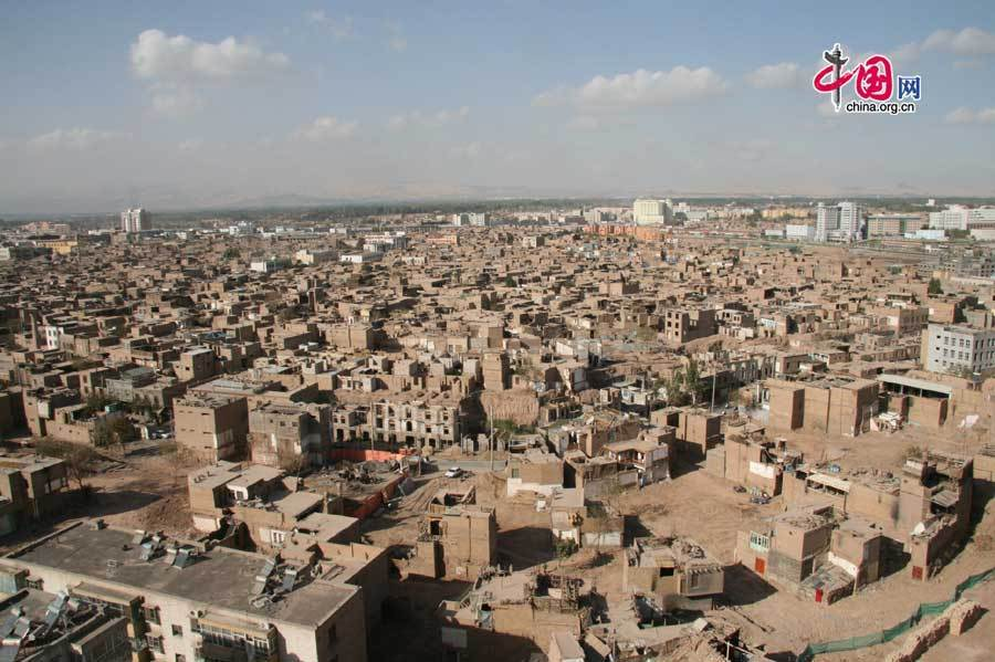 Kashi China  city pictures gallery : bird view of kashi s old city zone kashi located in northwest china ...