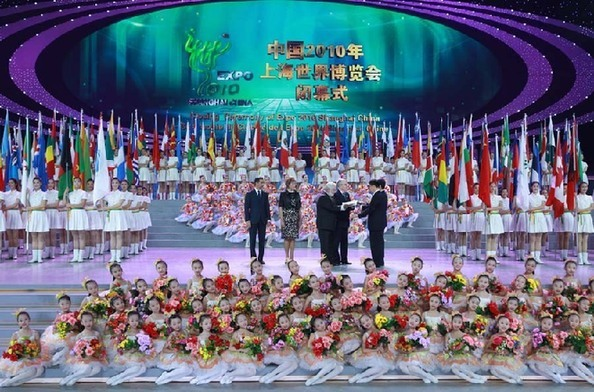 Closing ceremony of Shanghai World Expo on October 31, 2010.