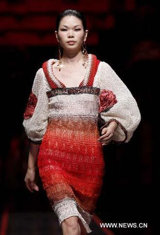 Chinese Red Inspired By China Pavilion Steals Catwalk
