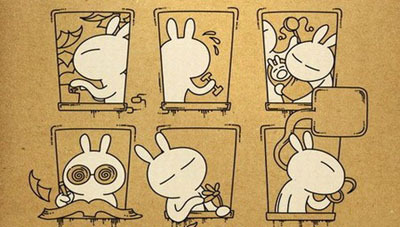 从2006年开始,风靡网络的卡通兔斯基因其可爱的形象和夸张的动作深受