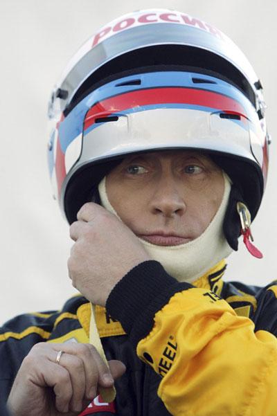 Putin Roars Off In F1 Race Car China Org Cn