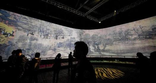 Digital Riverside Scene at Qingming Festival shown in HK