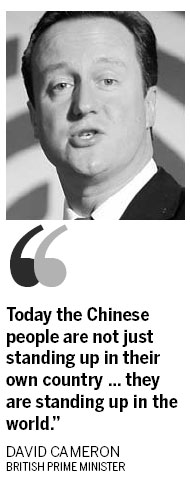 Cameron sees China's rise as an opportunity <BR>