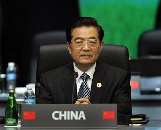 11月12日,国家主席胡锦涛在韩国首尔出席二十国集团领导人第五次峰会并发表重要讲话。新华社记者 兰红光 摄