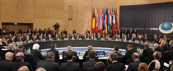 The NATO-Russia Council summit opens in Lisbon, capital of Portugal, Nov. 20, 2010. [Xinhua]