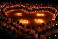 People across China light candles to mourn the Yushu earthquake dead and pray for the affected.