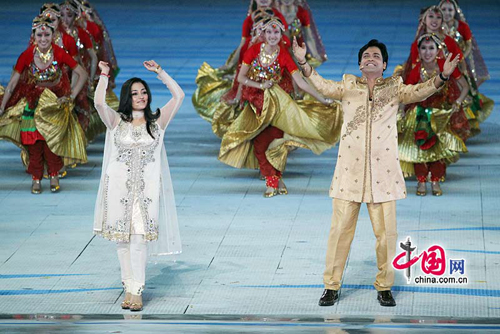Art performance at the Closing Ceremony of the 16th Asian Games