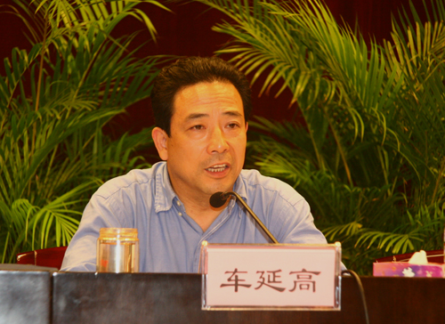 File photo: Che Yan'gao, 54, is the head of the Communist Party internal discipline department in Wuhan, as well as a member of the Chinese Writers Association.