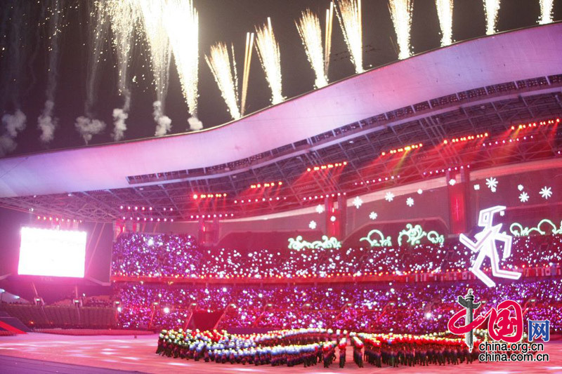 Performances before the Opening Ceremony of the Guangzhou Asian Para Games. [China.org.cn]