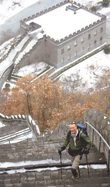Robert Loken sold his house, quit his IT job and spent  almost two years hiking 6,000 km of the Great Wall of China.