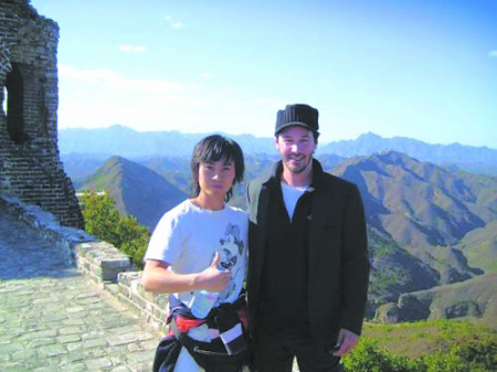 Keanu Reeves (right) and Chinese kungfu master Chen Hu (left)