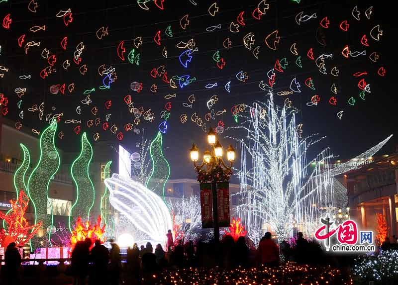 christmas decorations are seen in beijing as the festival approaches china com - Chinese Christmas Decorations