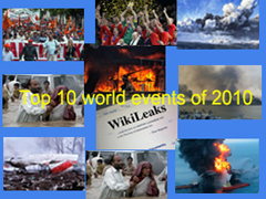 Top 10 world events of 2010