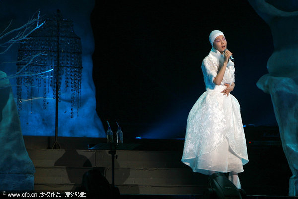 Faye Wong performs in Shanghai in November.