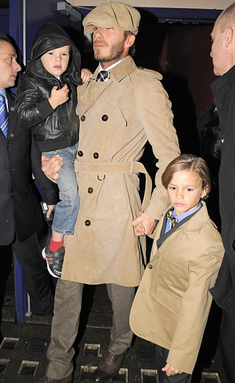 It's undeniable, that like his father David, Romeo is super stylish though.