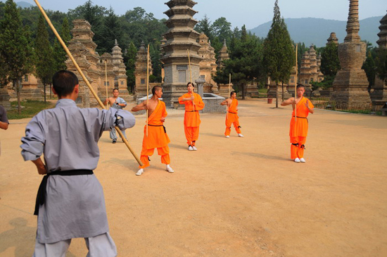 Shaolin Temple, a Buddhist temple in China famous for its martial arts training.