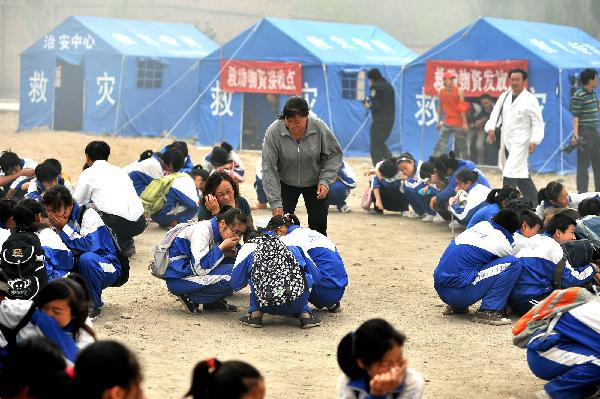 Quake drill conducted in Ningxia