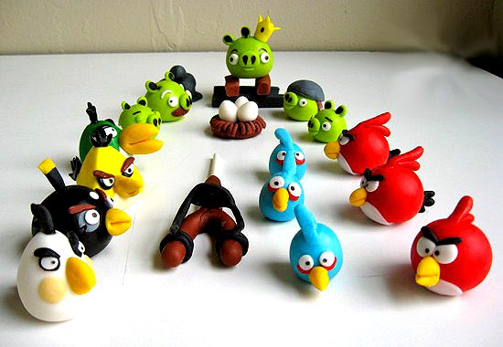 Angry Birds Space Cake Decorations