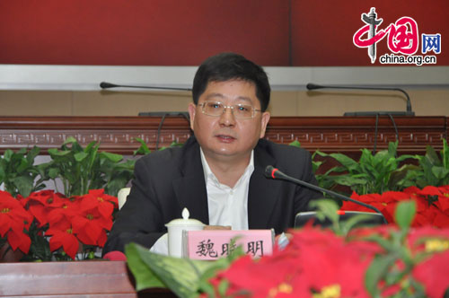 Wei Xiaoming, deputy mayor of Hefei, the capital of Anhui Province. [Wang Wei/China.org.cn]