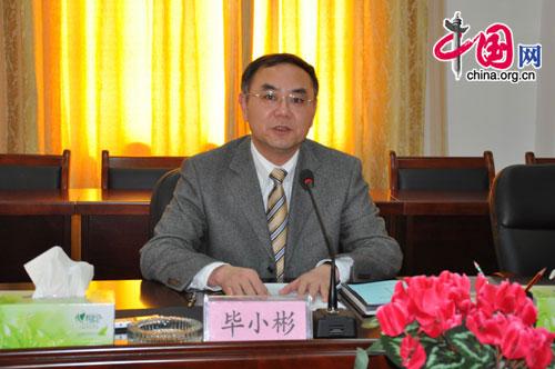 Bi Xiaobin, director of the Management Committee of the Jiangbei Industry Zone. [Wang Wei/China.org.cn]