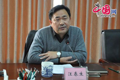 Wang Chunsheng, vice director of the Management Committee of the Jiangnan Industry Zone. [Wang Wei/China.org.cn]