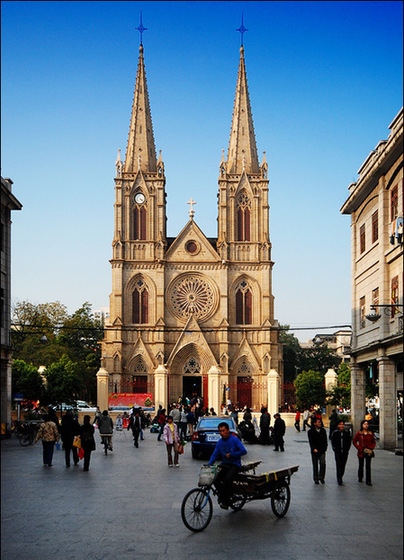 Sacred Heart Cathedral,one of the 'Top 10 must-see attractions in Guangzhou, China' by China.org.cn.