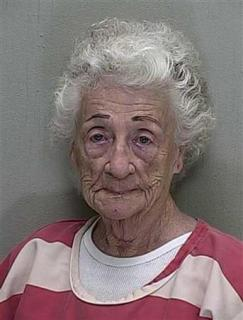 Helen Staudinger, 92, wanted a kiss and didn't handle rejection well.