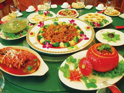 Traditional Chinese New Year Food Vegetarian