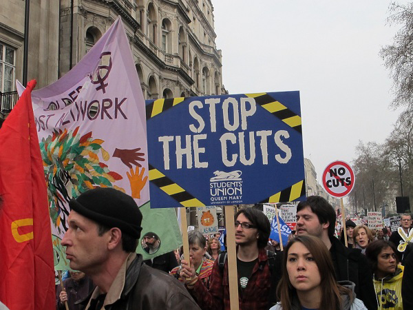 Britons join anti-cuts protest in London
