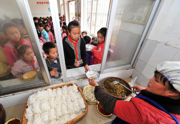 Free lunch for hungry students in S China