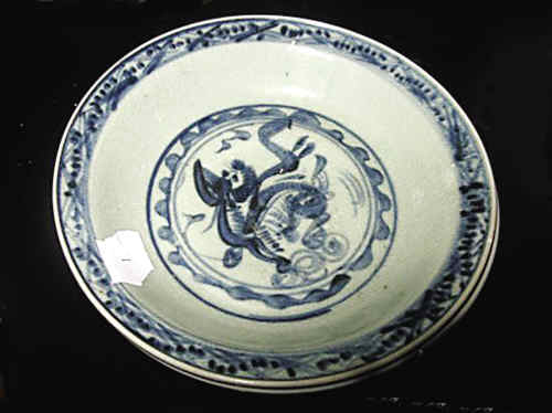 Porcelain plate salvaged from Nan'ao No. 1 shipwreck
