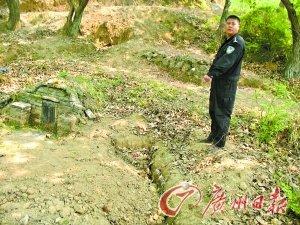 The pit Zeng Qingxiang dug in advance.