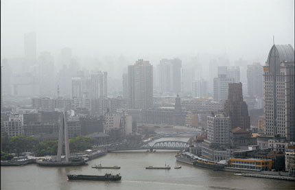 After a strong sandstorm hit parts of China's northwest, Shanghai is experiencing its worst air quality to date. [Shanghai Daily]