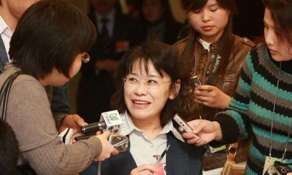 Zhang Haidi answered the questions from the media.[File photo]